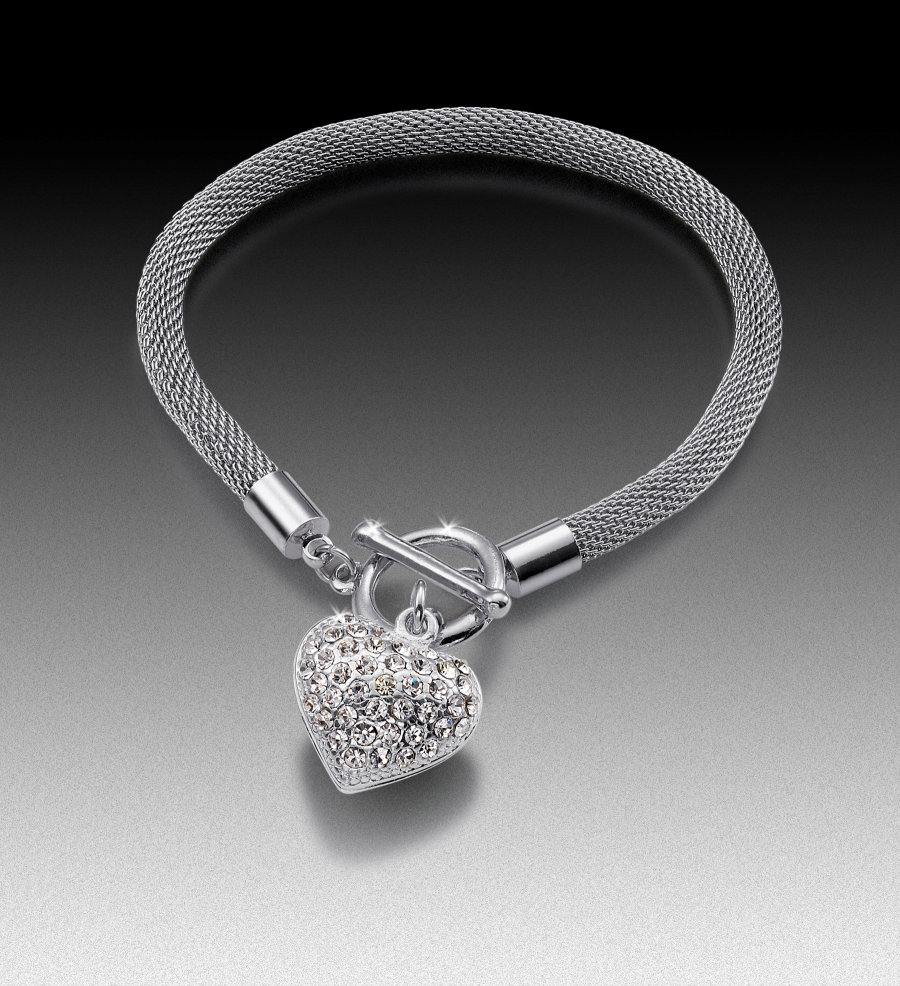 Pave Heart Bracelet • Chris Adyniec