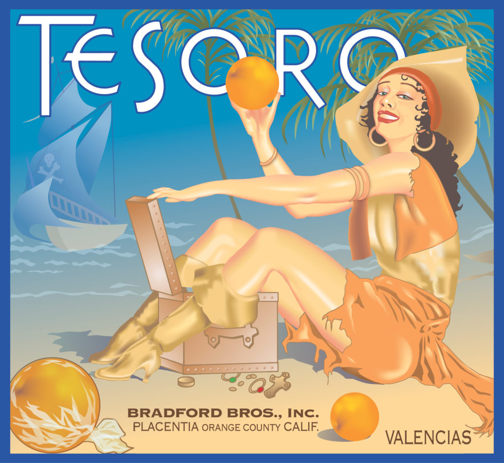 Tesoro. Client: Yesteryear Models. Medium: Adobe Illustrator.