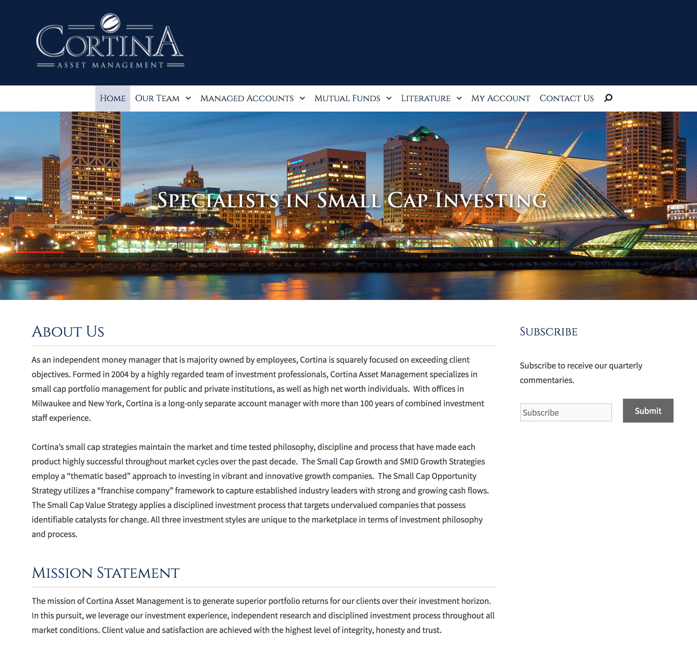 Cortina Asset Management