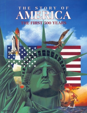 The Story of America. Client: Ideals Publications. Mediums: Colored Pencils, Pastels, Acrylics.
