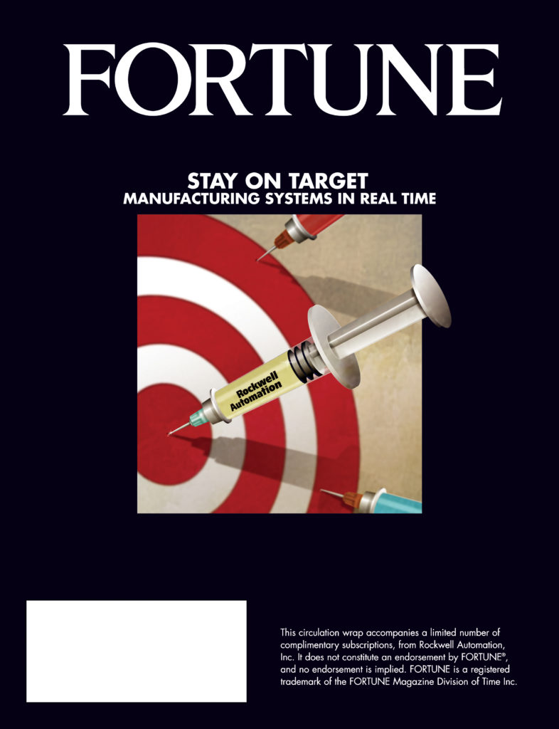 Client: Rockwell Automation. Fortune Magazine cover. Mediums: Adobe Illustrator and Photoshop.